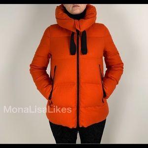 New MONCLER Serin Orange Down Puffer Jacket Coat